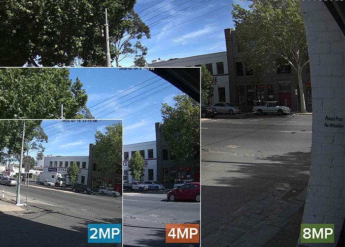رزولوشن دو مگاپیکسل در دوربین مداربسته