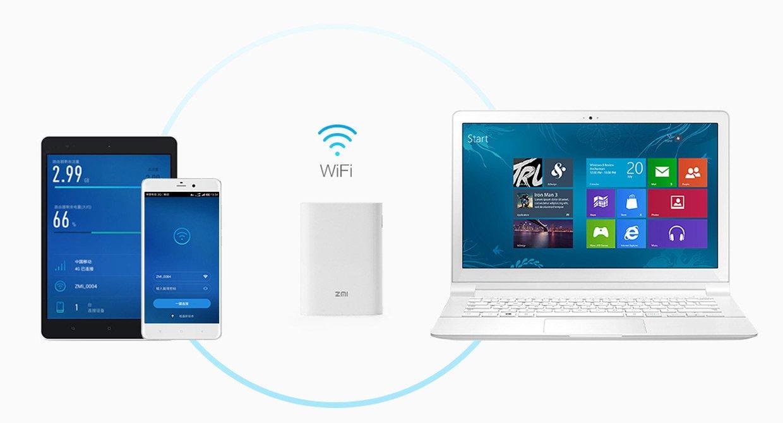 پاور بانک 7800mAh و مودم همراه LTE زد ام آی مدل ZMI MF855 - رایانه همراه
