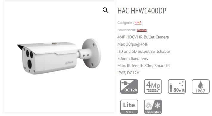 دوربین داهوا مدل HAC-HFW1400DP