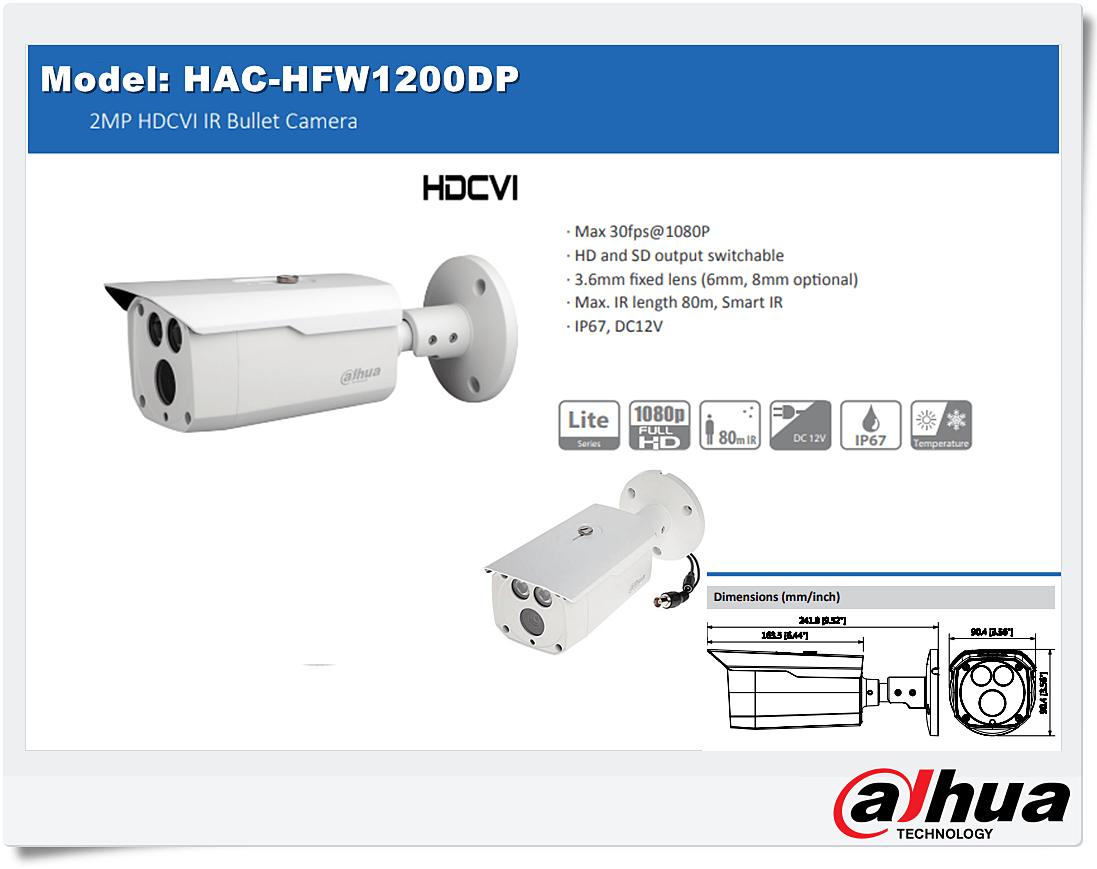 دوربین داهوا مدل HAC-HFW1200DP