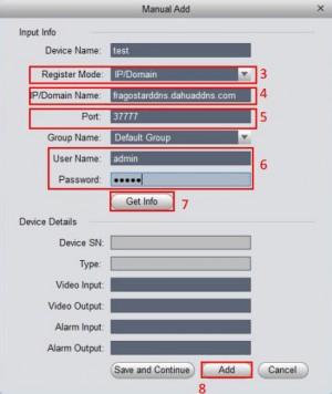 تنظیمات dahua ip static در نرم افزار cms
