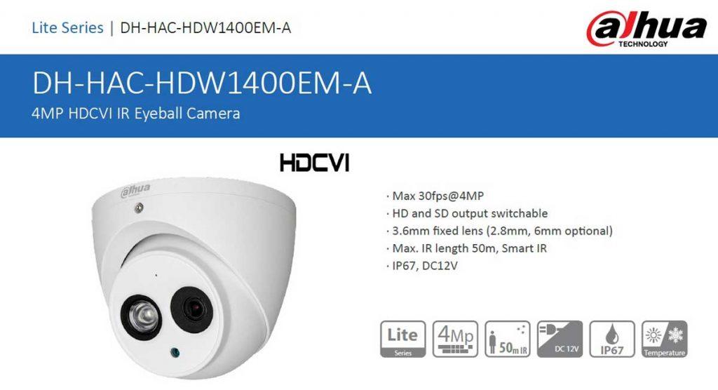دوربین مداربسته داهوا مدل DH-HAC-HDW1400EMP-A در شیراز