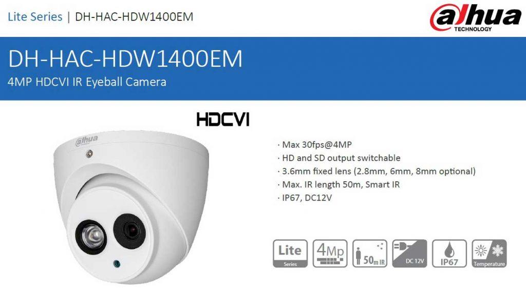 دوربین مداربسته داهوا مدل DH-HAC-HDW1400EMP در شیراز