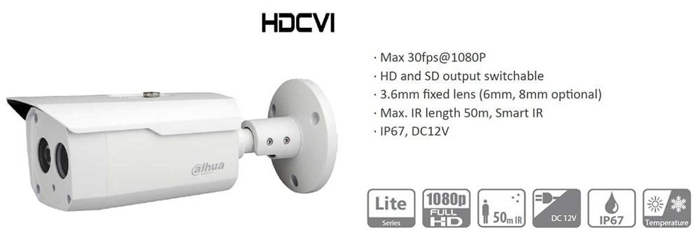 دوربین داهوا مدل HAC-HFW1200BP