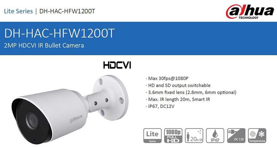 دوربین داهوا مدل HAC-HFW1200TP