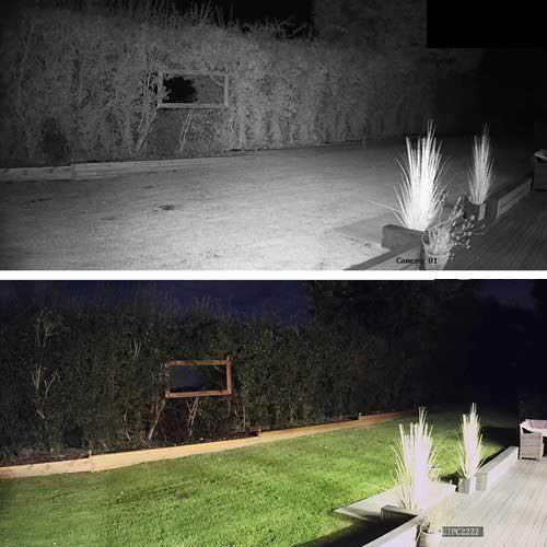دید در شب رنگی دوربین وارملایت اسپید دام V380