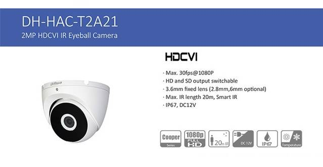 دوربین داهوا مدل DH-HAC-T2A21